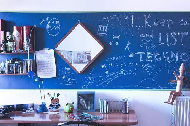 Fare Una Parete Di Lavagna : Lavagne a parete le idee che arredano centropagina quotidiano