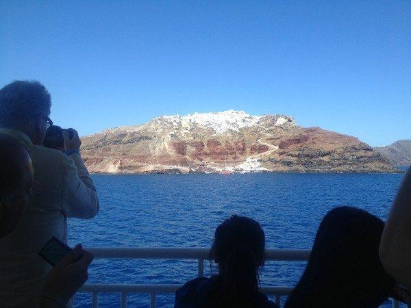 arrivo a Santorini